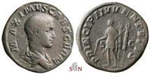 Ancient Coins - Maximus Caesar Sestertius - PRINCIPI IVVENTVTIS - RIC 13