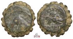 Ancient Coins - SELEUKID KINGS OF SYRIA. Demetrios I. Serrate Ae - Horse's head - Elephant's head