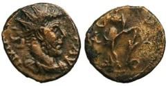 Ancient Coins - Tetricus I Local Imitation - Salus standing left - barbarous radiate