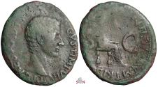 Ancient Coins - Tiberius AE AS - Livia seated right - RIC 33