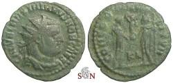 Ancient Coins - Galerius Maximianus AE radiate fraction - CONCORDIA MILITVM - RIC 19b