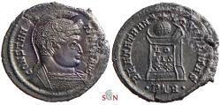 Ancient Coins - Constantine I. AE Nummus - BEATA TRANQVILLITAS - Trier mint - RIC 368
