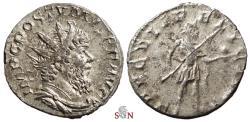 Ancient Coins - Postumus Antoninianus - SAECVLI FELICITAS - Elmer 593 - great portrait