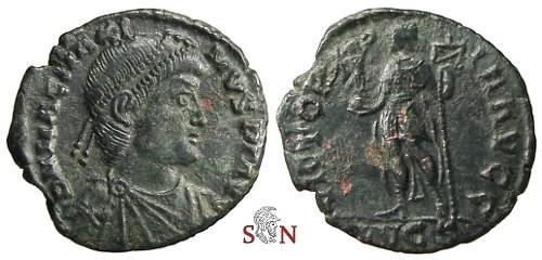 Ancient Coins - Magnus Maximus AE 23 mm - VICTORIA AVGG - RIC 33 - Rare
