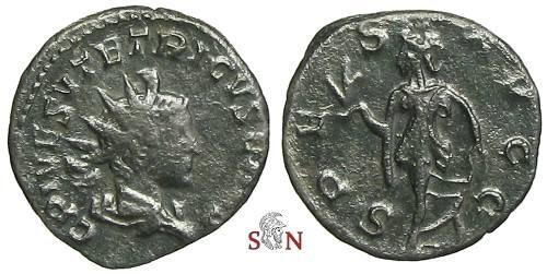Ancient Coins - Tetricus II Antoninianus - SPES AVGG - Elmer 791