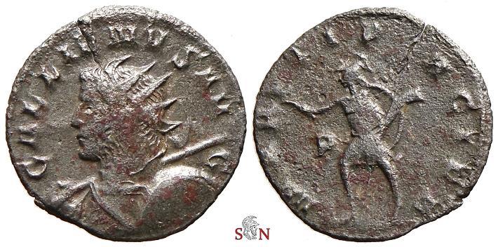 Ancient Coins - Gallienus Antoninianus - MARTI PACIFE - Goebl 1034 q