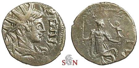 Ancient Coins - Tetricus II local imitation - Roma seated right - Very Rare