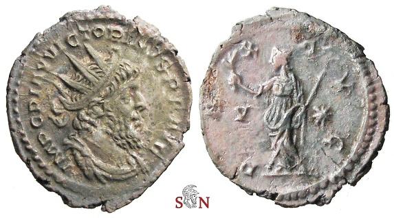 Ancient Coins - Victorinus Antoninianus  PAX AVG / V - * - Elmer 651 - Ex Lückger Collection