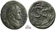 Ancient Coins - Domitianus AE 27mm - Syria - Large S C in laurel wreath