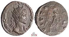 Ancient Coins - Quintillus Antoninianus - Victory adv. right - RIC 33 - remarkable portrait