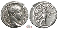 Ancient Coins - Severus Alexander denarius - Mars advancing right - RIC 45