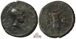 Ancient Coins - Anonymous AE Quadrans - Mars / Cuirass - RIC 19