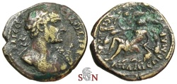 Ancient Coins - Hadrianus AE 20 mm - Phrygia, Apameia - Marsyas reclining left
