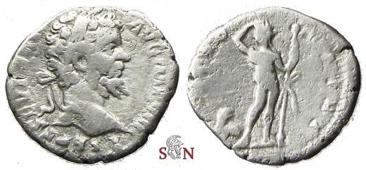 Ancient Coins - Septimius Severus Denarius - LIBERO PATRI - Bacchus - RIC 99