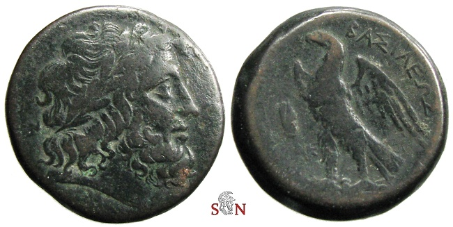 Ancient Coins - Ptolemaic Kingdom - Ptolemy II AE 26 mm - eagle standing left - Alexandria mint