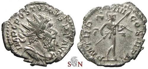 Ancient Coins - Postumus Antoninianus - P M TR P IIII COS III P P - Elmer 332