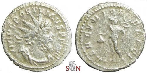 Ancient Coins - Postumus Antoninianus - MERCVRIO FELICI - Elmer 413