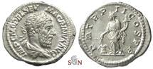 Ancient Coins - Macrinus Denarius - Annona with modius - RIC 26c