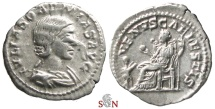 Ancient Coins - Julia Soaemias Denarius - VENVS CAELESTIS - RIC 243