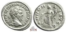 Ancient Coins - Septimius Severus Denarius - ANNONAE AVGG - RIC 123