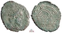 Ancient Coins - Tetricus I. Antoninianus - local imitation - roman Theater