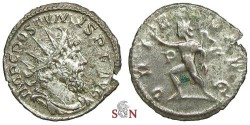 Ancient Coins - Postumus Antoninianus - ORIENS AVG - P - good silver - Elmer 568