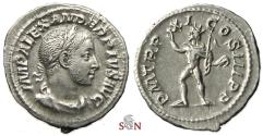 Ancient Coins - Severus Alexander Denarius - Sol standing left - RIC 114