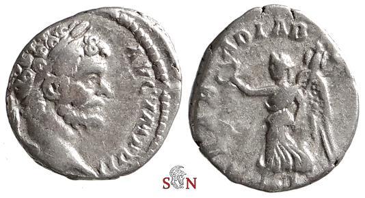 Ancient Coins - Septimius Severus Denarius - ARAB ADIAB COS II P P - RIC 58