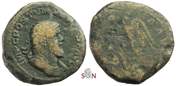 Ancient Coins - Postumus Sestertius - Very rare Obv. Legend with PIVS - Bastien 92