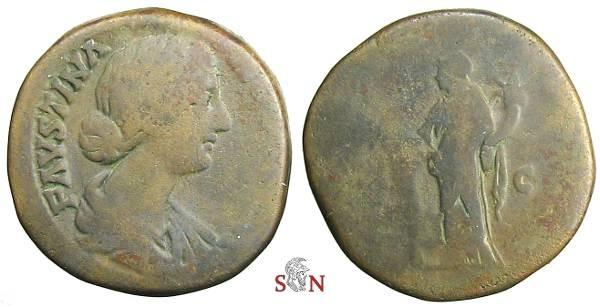 Ancient Coins - Faustina II sestertius - HILARITAS AVG - RIC 1642