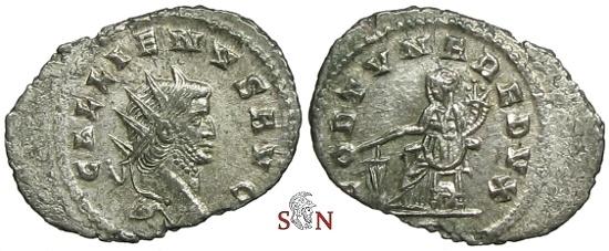 Ancient Coins - Gallienus Antoninianus - FORTVNA REDVX - RIC 194a
