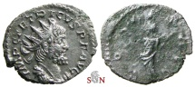 Ancient Coins - South Petherton Hoard (UK) - Tetricus I. Antoninianus - COMES AVG - Elmer 770