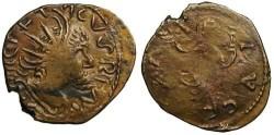 Ancient Coins - Tetricus I Local Imitation - Pax stading left - barbarous radiate
