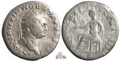 Ancient Coins - Domitianus as Caesar Denarius - PRINCEPS IVVENTVTIS - Vesta - RIC1087