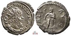 Ancient Coins - Postumus Antoninianus - SALVS AVG - Elmer 415 - great portrait