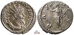 Ancient Coins - Postumus Antoninianus - PAX AVG - Elmer 565 - excellent portrait