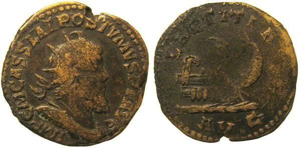 Ancient Coins - Postumus Double Sestertius - LAETITIA AVG - Bastien 87