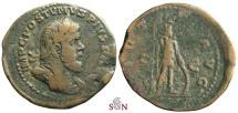 Ancient Coins - Postumus Sestertius - Very rare Obv. Legend with PIVS - VIRTVS AVG - Bastien 50
