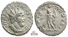 Ancient Coins - Postumus Antoninianus - NEPTVNO REDVCI without prow - scarce - not in Elmer