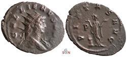Ancient Coins - Gallienus Antoninianus - PIETAS AVG - Mediolanum mint - Goebl 1262 h - extremely rare