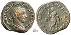 Ancient Coins - Gordianus III. Sestertius - SECVRITAS PERPETVA - RIC 336