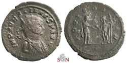 Ancient Coins - Aurelianus Antoninianus - very rare bust type - IOVI CONSER - Serdica mint