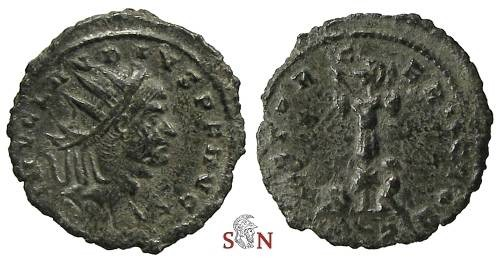 Ancient Coins - Claudius II Gothicus Antoninianus - VICTOR GERMAN - Very Rare - RIC 247