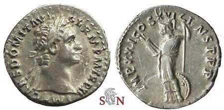 Ancient Coins - Domitianus Denarius - Minerva standing left - RIC 732