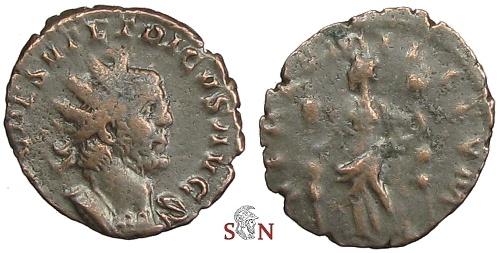 Ancient Coins - Tetricus I Antoninianus - Obv. Legend IMP C P ESV TETRICVS AVG - Very Rare - RIC 72
