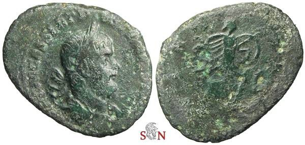 Ancient Coins - Postumus Sestertius - extremely rare specimen of the 1st Emission - Bastien 4