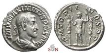 Ancient Coins - Maximinus I Thrax denarius - Maximinus standing left - RIC 3