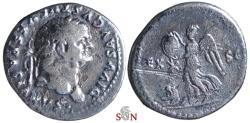 Ancient Coins - Divus Vespasian Denarius - Victory, trophy, mourning Judaea - RIC 364