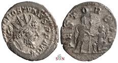 Ancient Coins - Postumus Antoninianus - REST ORBIS - Very Rare - Elmer 592