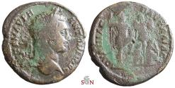Ancient Coins - THRACE, Pautalia - Caracalla AE 30 mm - emperor with trophy and captives  - Ruzicka 665